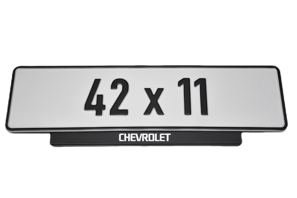 Short Number Plate Holder for Chevrolet