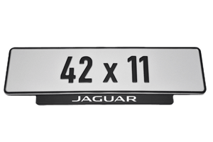 Short Number Plate Holder for Jaguar
