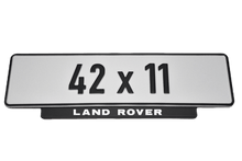 Load image into Gallery viewer, Short Number Plate Holder for Land Rover