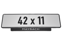 Load image into Gallery viewer, Short Number Plate Holder for Maybach