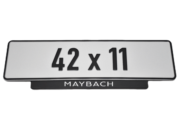 Short Number Plate Holder for Maybach