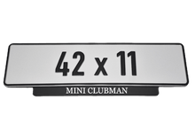 Laden Sie das Bild in den Galerie-Viewer, Short Number Plate Holder for MINI Clubman