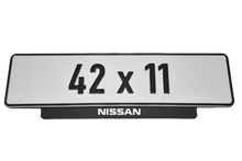 Laden Sie das Bild in den Galerie-Viewer, Short Number Plate Holder for Nissan