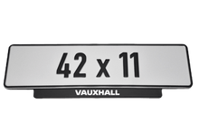 Load image into Gallery viewer, Short Number Plate Holder for Vauxhall