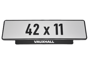 Short Number Plate Holder for Vauxhall