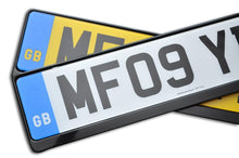 Load image into Gallery viewer, Premium Black Number Plate Holder for Tesla with Logo - Number Plate Holder