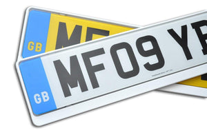Premium White Number Plate Holder for Saab - Number Plate Holder