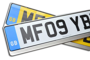 Premium Chrome Number Plate Holder for Toyota - Number Plate Holder