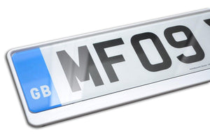 Premium White Number Plate Holder for Nissan - Number Plate Holder