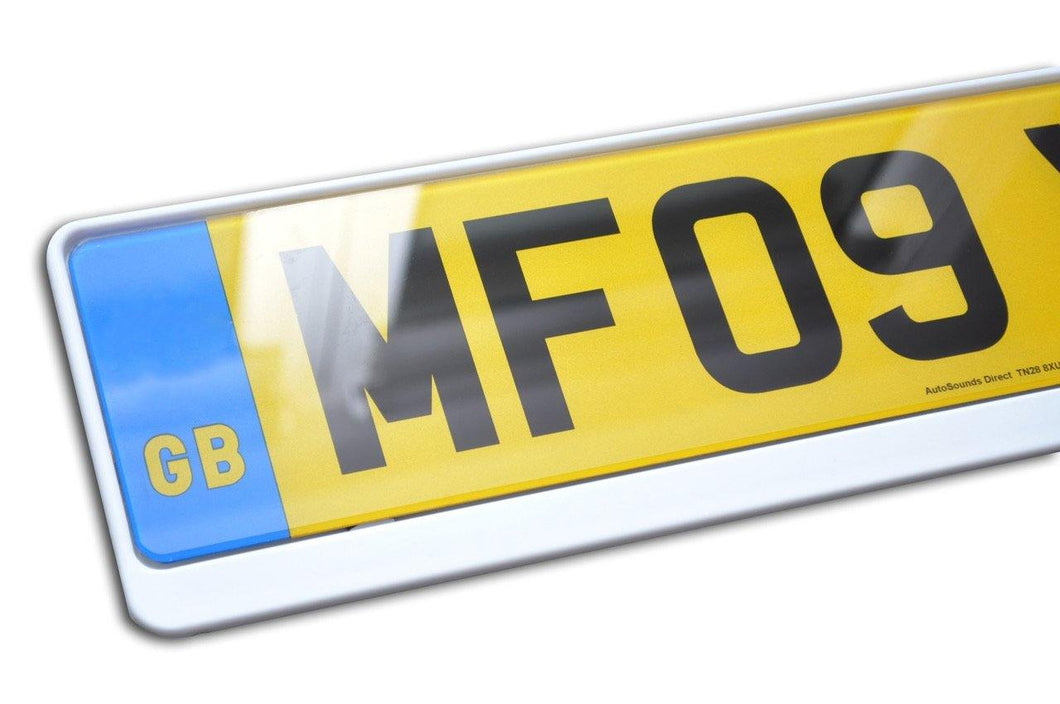 Premium White Number Plate Holder for MINI - Number Plate Holder