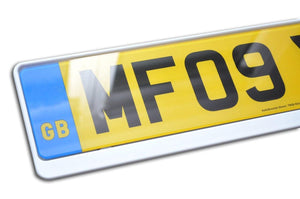 Premium White Number Plate Holder for Ford - Number Plate Holder