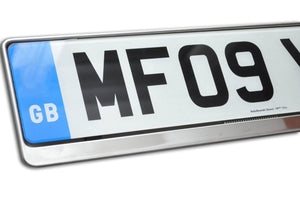 Premium Chrome Number Plate Holder for Seat - Number Plate Holder