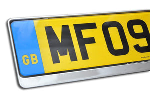 Premium Chrome Number Plate Holder for Jaguar - Number Plate Holder
