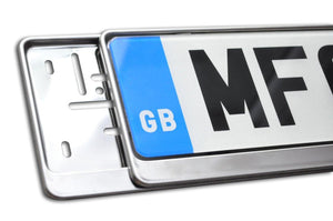 Premium Chrome Number Plate Holder for Land Rover - Number Plate Holder