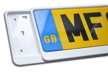 Load image into Gallery viewer, Premium White Number Plate Holder for Suzuki - Number Plate Holder