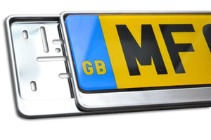 Premium Chrome Number Plate Holder for Nissan - Number Plate Holder