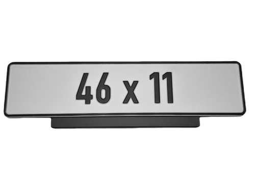 Premium Short Number Plate Holder for Short Number Plate 460x110 - Number Plate Holder