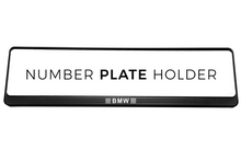 Laden Sie das Bild in den Galerie-Viewer, Premium Black Number Plate Holder for BMW with Logo - Number Plate Holder