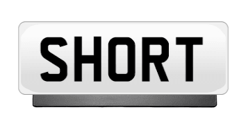 Premium Short Number Plate Holder - Number Plate Holder