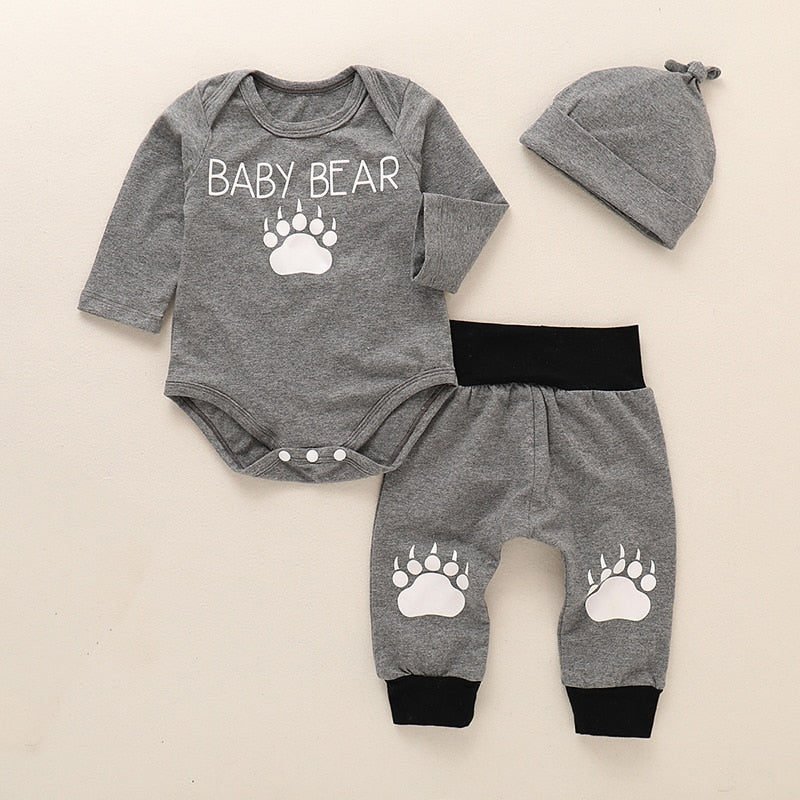 "3 Pcs Boys ""Baby Bear"" Set"