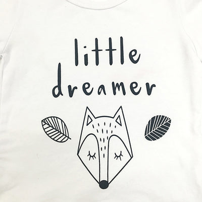 "2 Pcs Boys ""Little Dreamer"" Print Set"