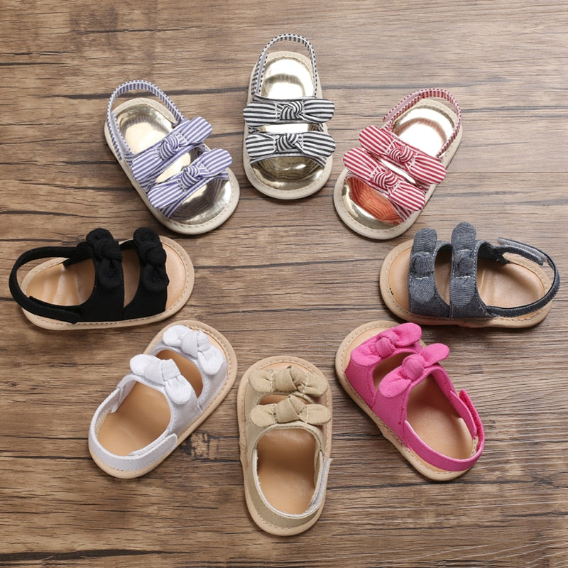 Girls Summer Bow Princess Shoes