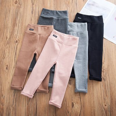 Girls Cotton Skinny Fit Leggings