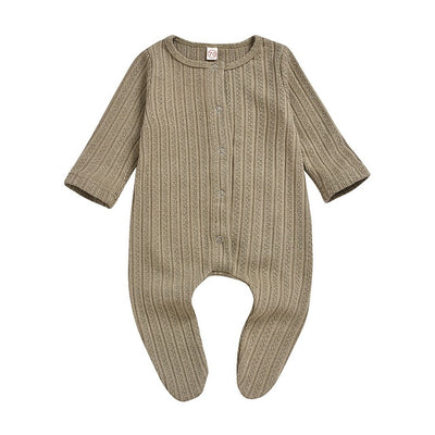 Unisex Winter Knit Single Breasted Onesie