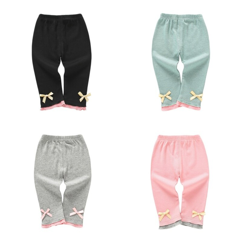 Girls Warm Casual Bow-Tie Pants/Leggings