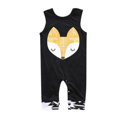 Unisex Sleeveless Cartoon Fox Onesie