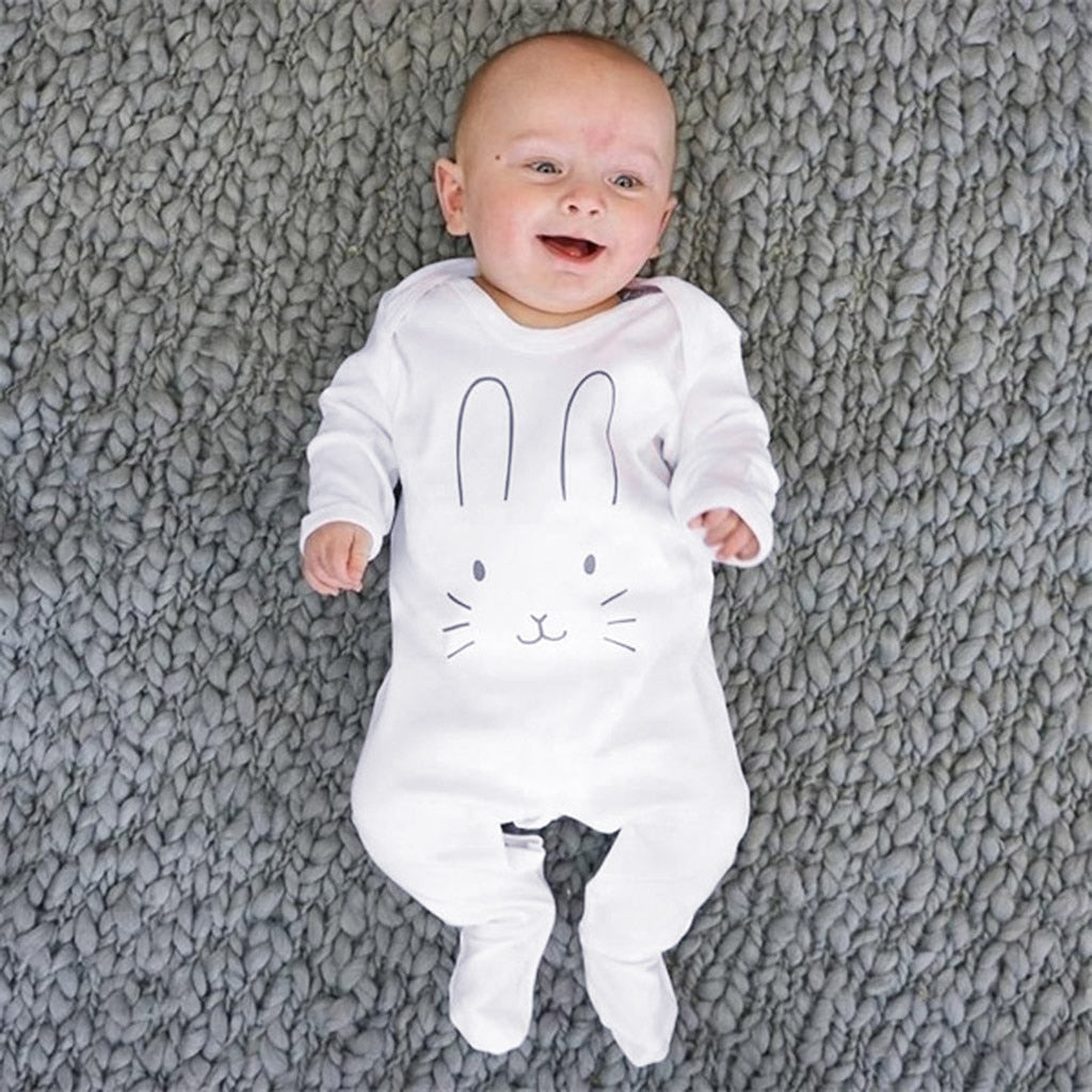 Unisex Long Sleeve Rabbit Cartoon Onesie