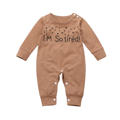 "Unisex ""I'm So Tired"" Print Onesie"