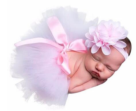 2 Pcs Newborn Photography Tutu & Headband Set
