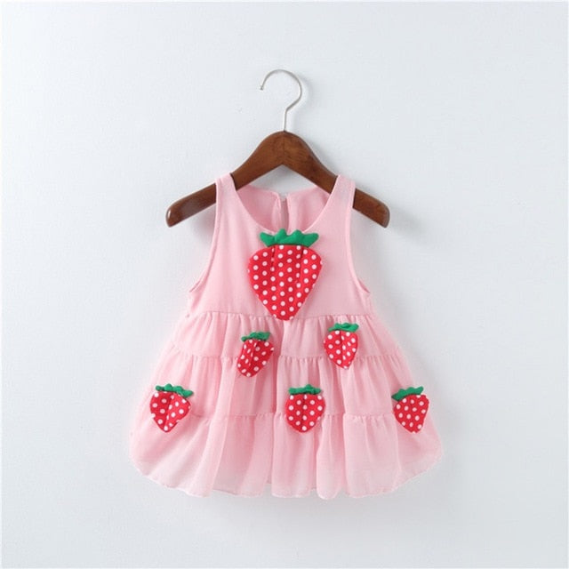 Girls Strawberry Dress