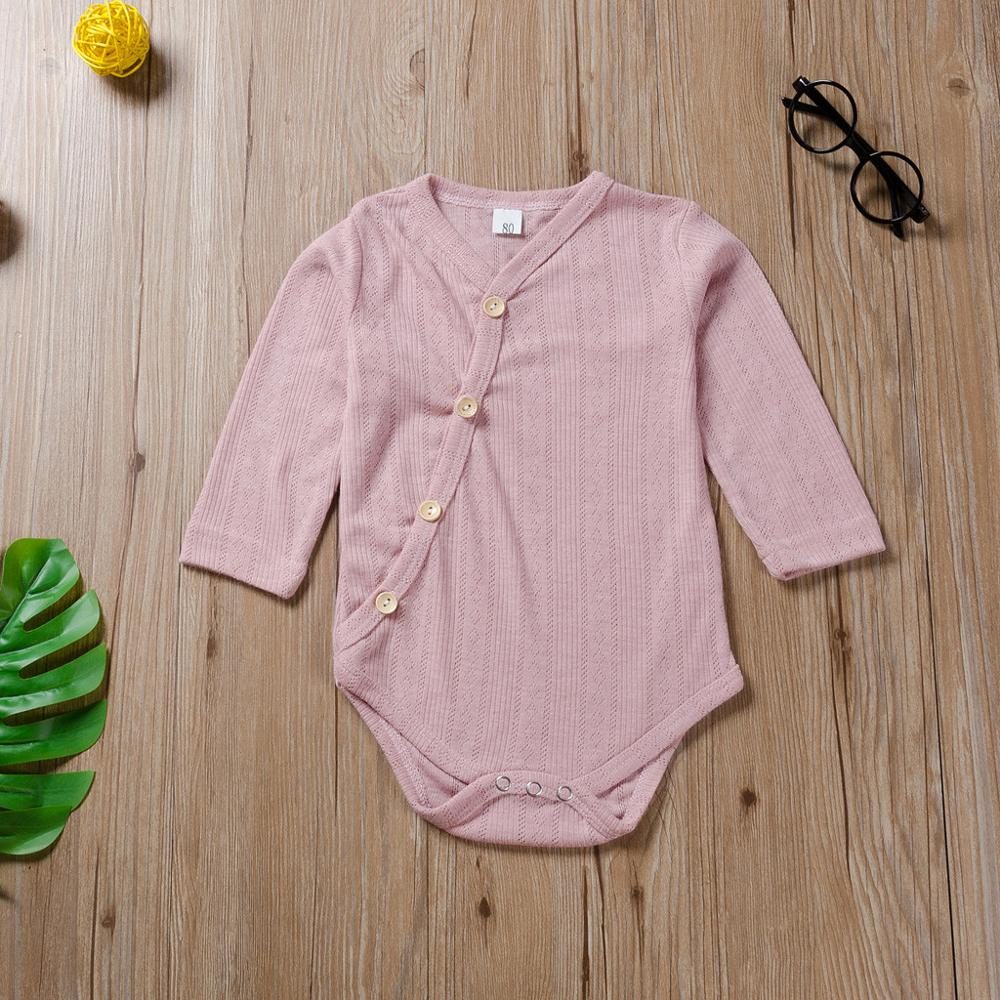 Girls Solid Cotton Knit Button Onesie