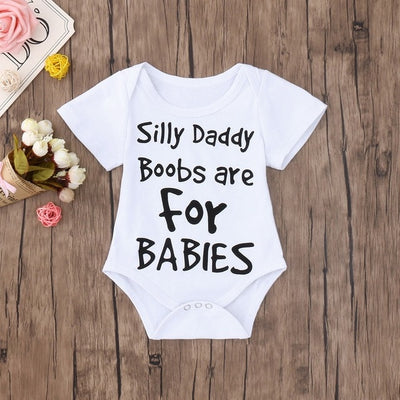 "Boys ""Boobs are for Babies"" Print Onesie"