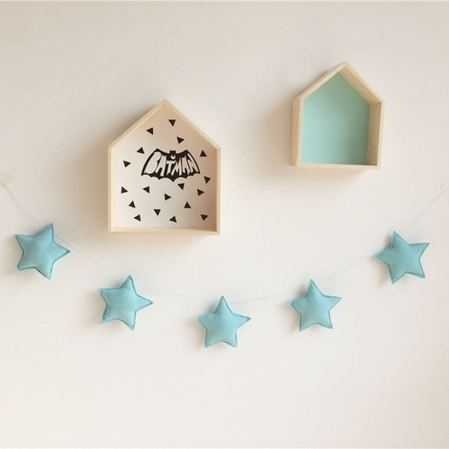 Girls Star Garland Nursery Wall Decor