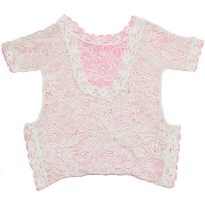 Newborn Girls Lace Photography Prop Romper