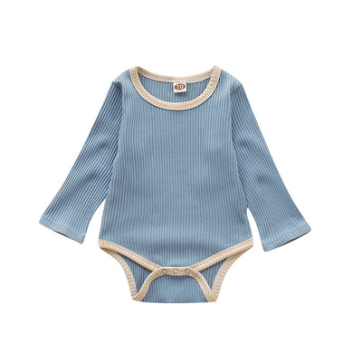 Boys Solid Long Sleeve Onesies