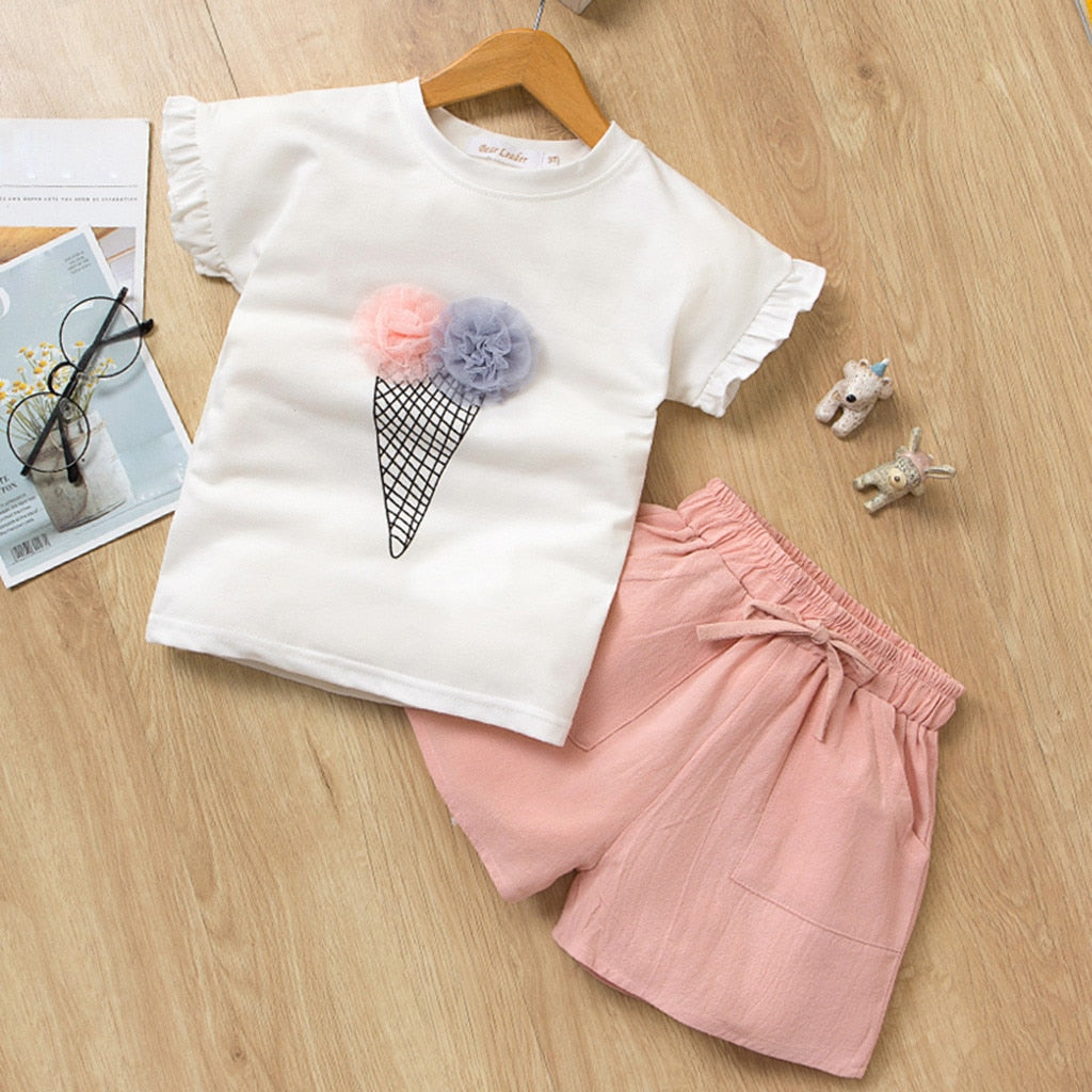 2 Pcs Girls Ice Cream Set