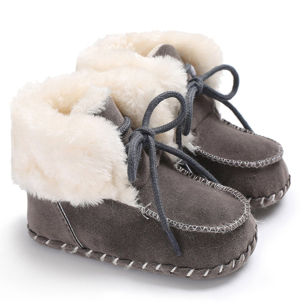 Unisex Soft Fur Lined Moccasin Boots