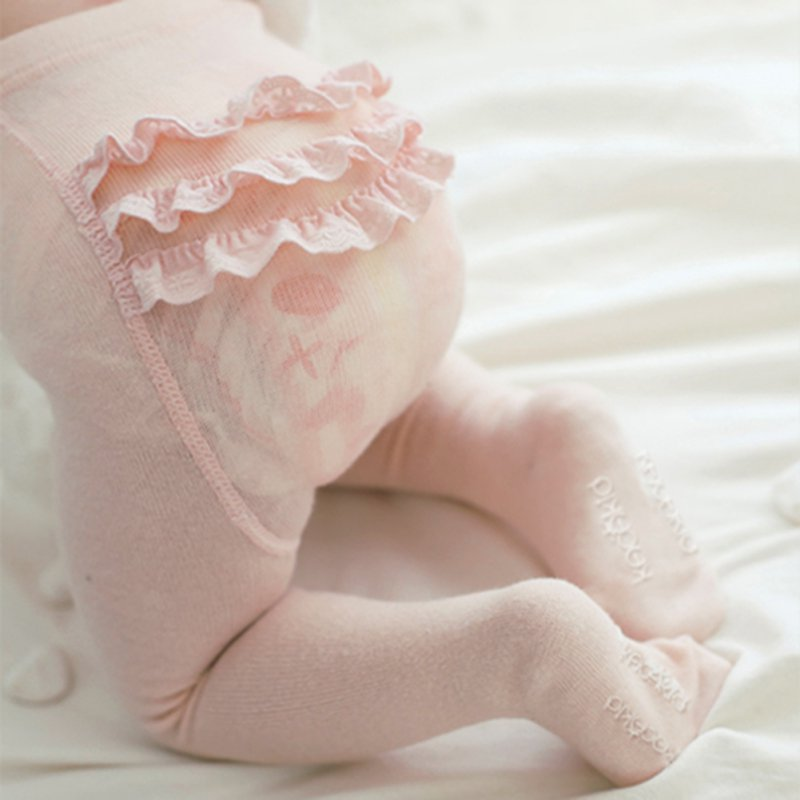Girls Cotton Ruffle Tights
