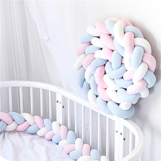 Braid Knot Pillow Cushion Crib Bumper
