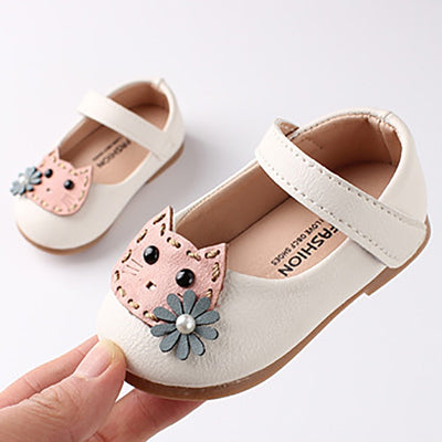 Sweet as Honey, Girls Cartoon Kitten Shoes
