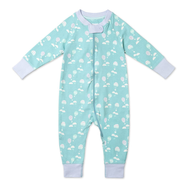 Balloon Pattern Romper Aqua