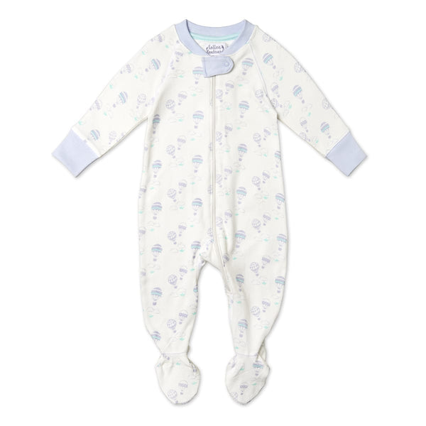 White Balloon Pattern Sleepsuit