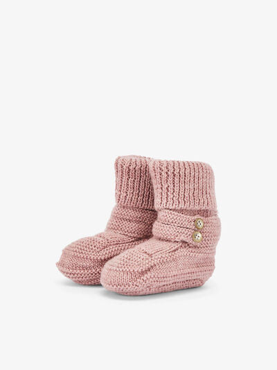 Newborn Wool Knit Booties