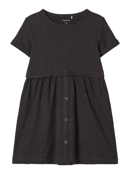 MiniGirl Rib Dress Grey