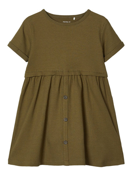 MiniGirl Rib Dress Ivy Green