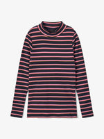 Slim Fit Striped Long-Sleeved T-shirt